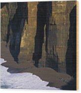 Cliffs At Blacklock Point Wood Print