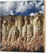 Cliffs At Echo Amphitheater Wood Print