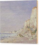 Cliffs Near Dieppe Wood Print