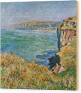 Cliffs Near Pourville Wood Print