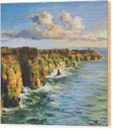 Cliffs Of Mohar 2 Wood Print