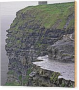 Cliffs Of Moher Ireland Wood Print