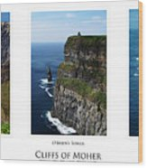 Cliffs Of Moher Ireland Triptych Wood Print