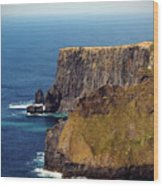 Cliffs Of Moher Ireland View Of Aill Na Searrach Wood Print