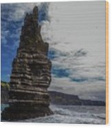 Cliffs Of Moher Stack Wood Print