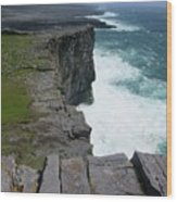 Cliffs Of The Aran Islands 5 Wood Print