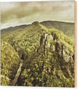 Cliffs, Steams And Valleys Wood Print