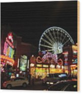 Clifton Hill At Night Wood Print