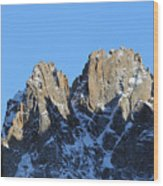 Climbers Sunlit Challenge Wood Print