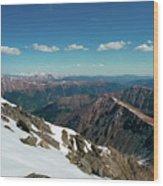 Climbing Greys Peak Wood Print