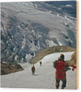 T-204805-climbing Party Mt. Rainier  Wood Print