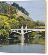 Clinton St. Bridge Prospect Mountain Binghamton Ny Wood Print