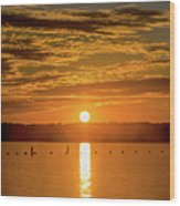 Clinton Sunset 1 Wood Print