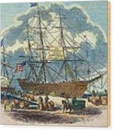 Clipper: Flying Cloud, 1851 Wood Print