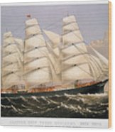 Clipper Ship, 1875 Wood Print