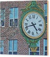 Clock At Port Warwick Wood Print