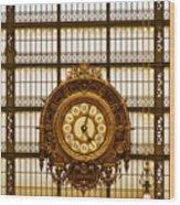 Clock Dorsay Museum Wood Print