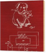 Clock For Keeping Animal Time Patent Drawing 1b Wood Print