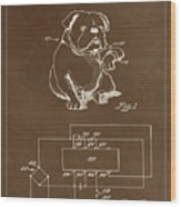 Clock For Keeping Animal Time Patent Drawing 1c Wood Print