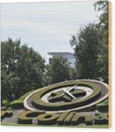 Clock In Los Colinas  Wood Print