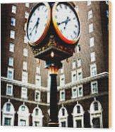 Clock Wood Print by Kelly Hazel