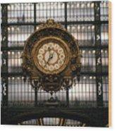 Clock Musee D'orsay Wood Print