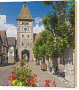 Half-timbered Houses, Alsace, France  Wood Print