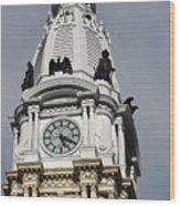 Clock Tower City Hall - Philadelphia Wood Print