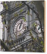 Clock Tower In Buenos Aires Wood Print
