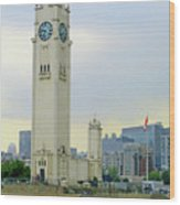 Clock Tower Montreal 1 Wood Print