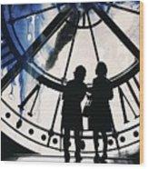 Clock Watching Wood Print