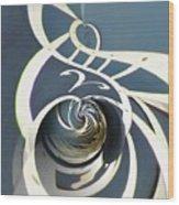 Clockface 7 Wood Print