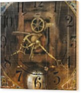 Clockmaker - A Sharp Looking Time Piece Wood Print