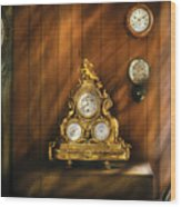 Clockmaker - Clocks Wood Print