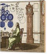 Clockmaker Wood Print