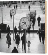 Clocks Wood Print