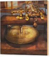 Clocksmith - The Gear Cutting Machine  Wood Print