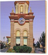 Clocktower Wood Print
