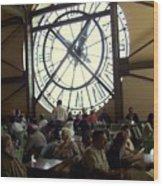 Clockwork Cafe Wood Print