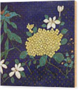 Cloisonee' Flower Wood Print