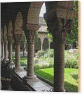 Cloister Garden Wood Print