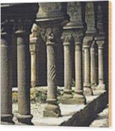 Cloister Of Lavaudieu. Haute Loire. Auvergne Wood Print