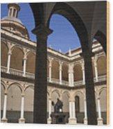 Cloister Real Colegio Seminario Del Corpus Christi Wood Print