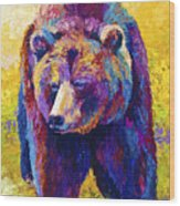 Close Encounter - Grizzly Bear Wood Print