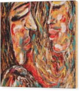 Close Encounter Wood Print