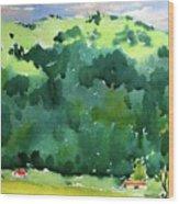 Close Mountains Wood Print