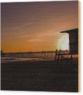 Close Of The Day At Newport Beach Wood Print
