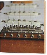Close Up Electric Guitar Wood Print