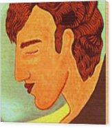 Close Up Man Sleepng Wood Print