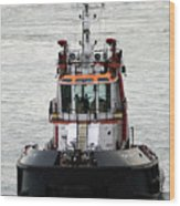 Close Up Of A Tugboat In Venice Harbor Wood Print